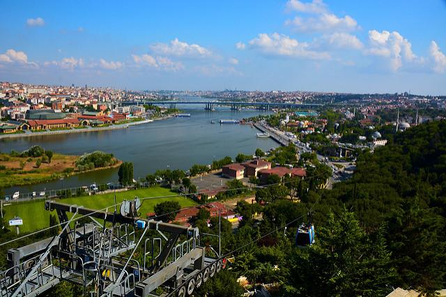 View of the waterway running through Istanbul