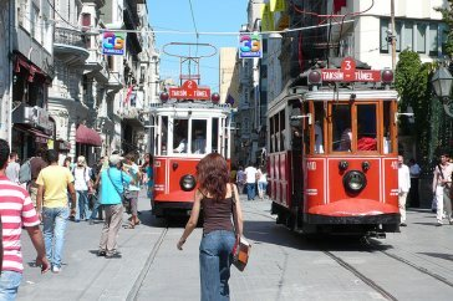 Nostalgi tram in Taksim