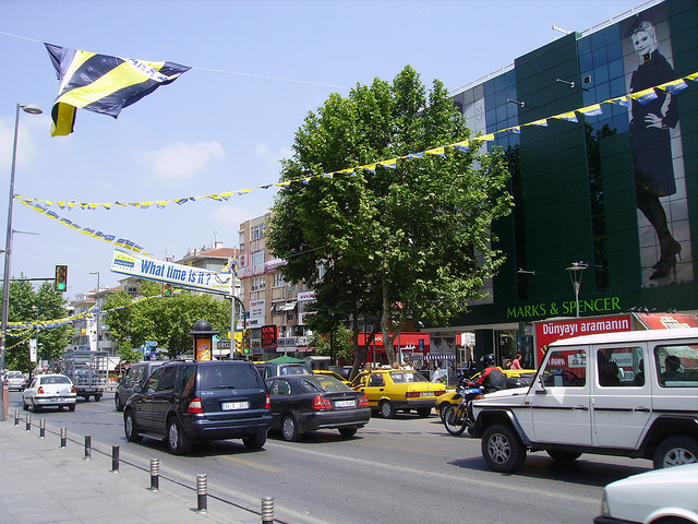 View of Bagdad Avenue in Istanbul (Asian side)