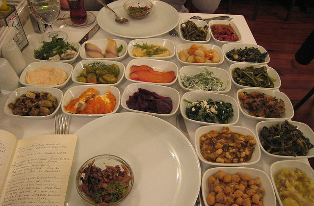 Appetizers at Istanbul food tour