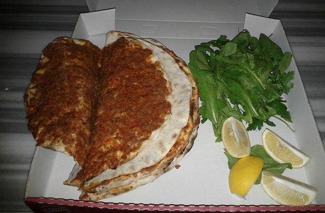 Lahmacun at Istanbul food tour