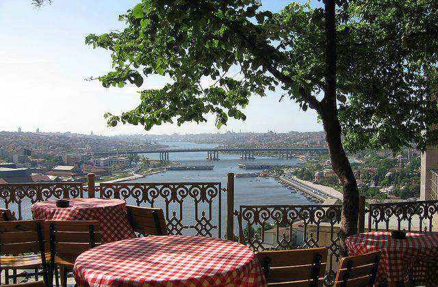 View from Pierre Loti hill in Istanbul