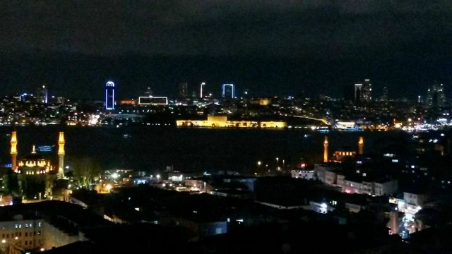 Istanbul view at night