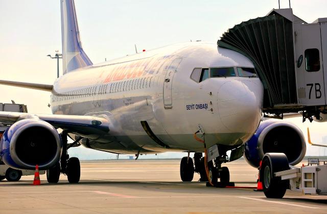 Sleeve at a plane at Sabiha Gokcen Airport
