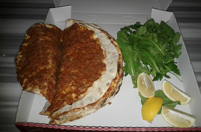 Lahmacun at Istanbul food tour