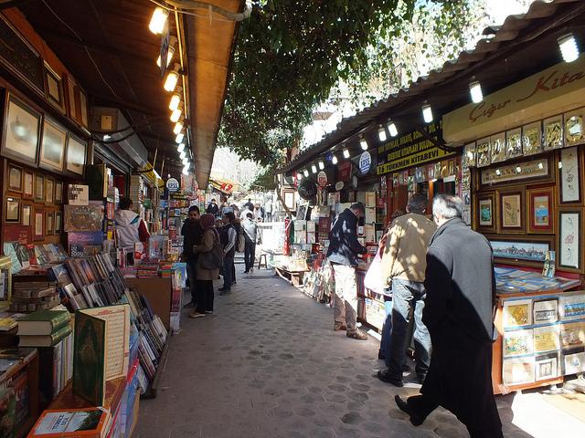 Sahaflar carsisi book market in Istanbul