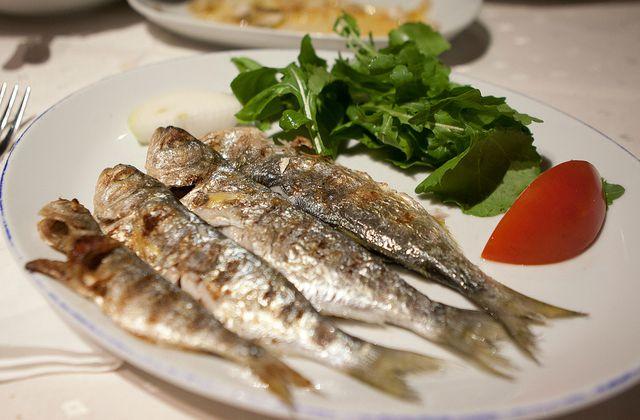 Fish food in Istanbul