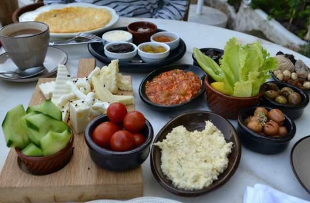 Turkish breakfast table