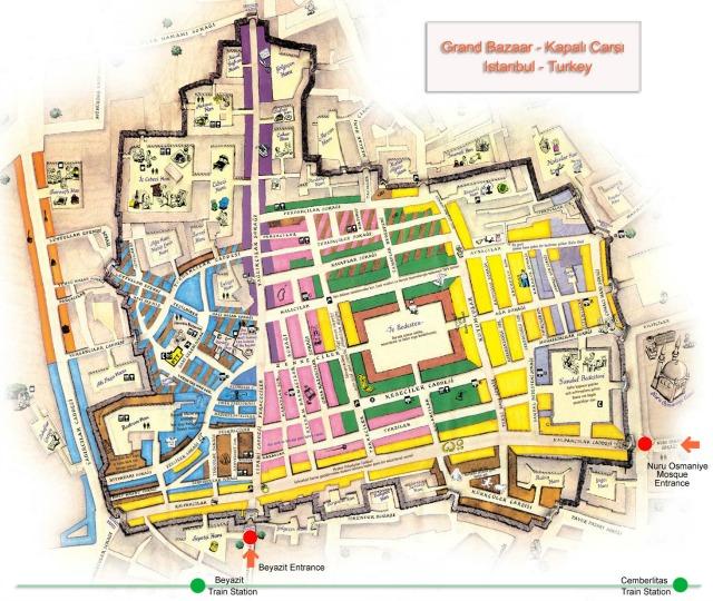 Grand Bazaar map