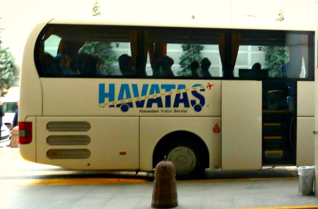 Transfer bus at Istanbul airport