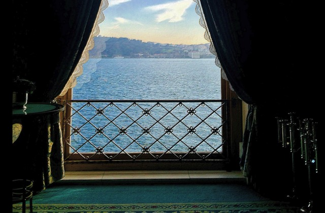 View from a hotel by Bosphorus Istanbul