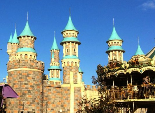Gothic towers of VIALAND in Istanbul