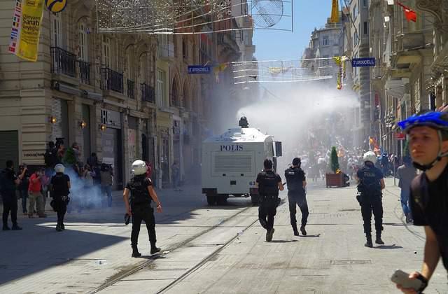 Taksim square riot police