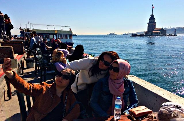 Selfie at Kiz Kulesi in Istanbul