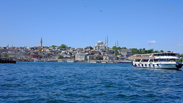 View from Istanbul Bosphorus cruise