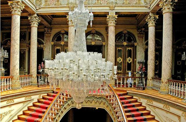 Inside Dolmabahce Palace in Istanbul