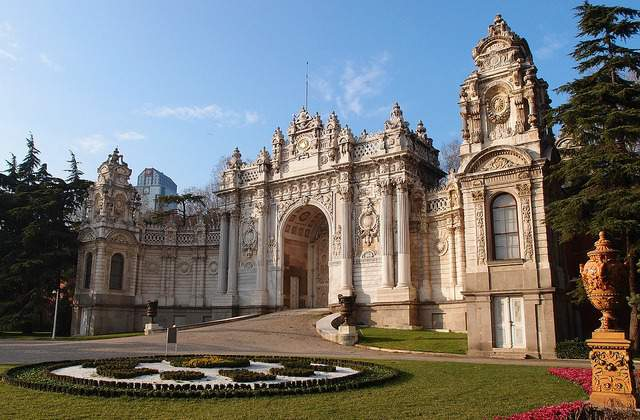 Look of Dolmabahce Palace from outside